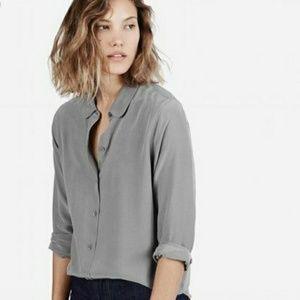 Everlane silk long sleeve button down shirt